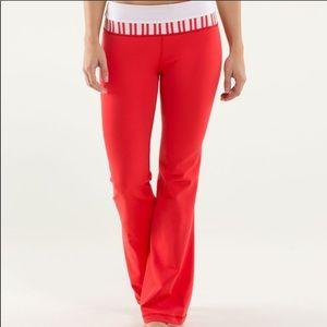 Rare red lululemon groove leggings